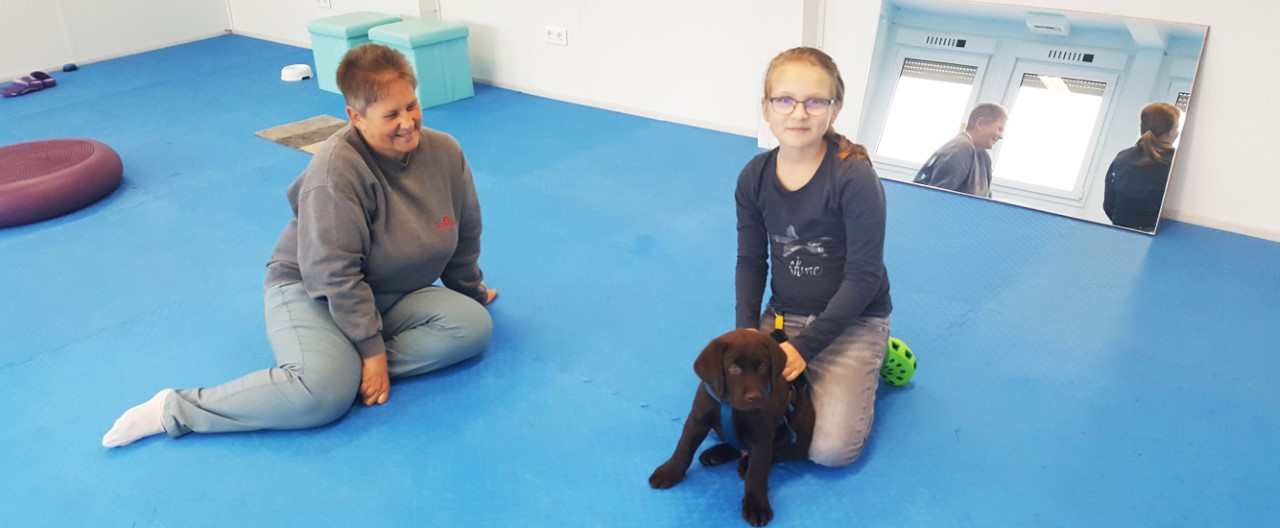 "The Story of Sophie & Max – Im Trainingsalltag – Max lernt ""Sitz"""