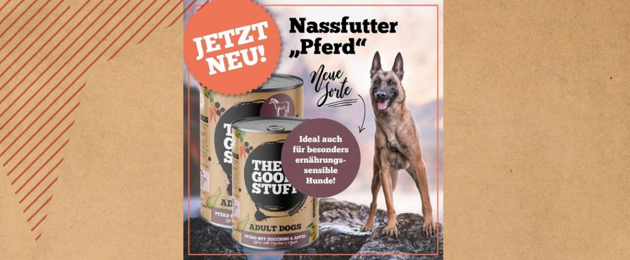 """Jetzt neu: Das Nassfutter """"Pferd & Zucchini"""" von THE GOODSTUFF"""