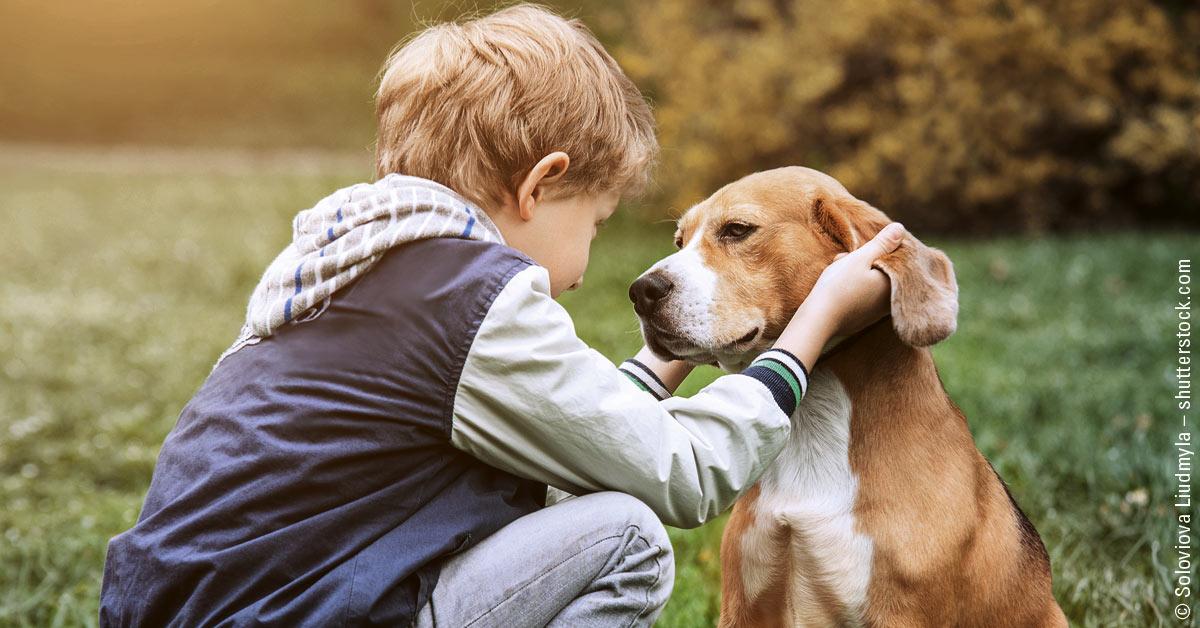 Kinder und Hunde – so funktioniert's am besten!
